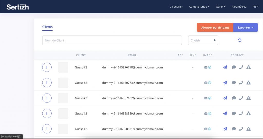Gérer les fichiers clients Sertizh